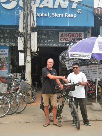 Comercio en Sien Reap, Camboya