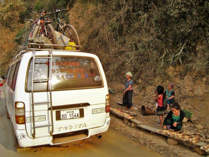 Transporte público en Laos
