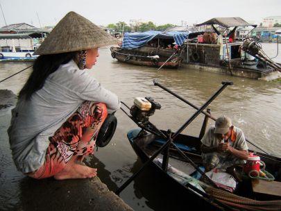 Mercado flotante Delta del Mekong