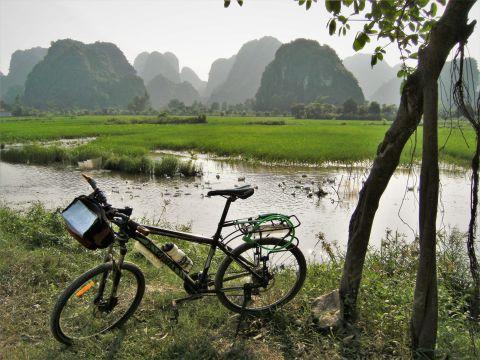Bicicleta en Ninh Binh, Vietnam