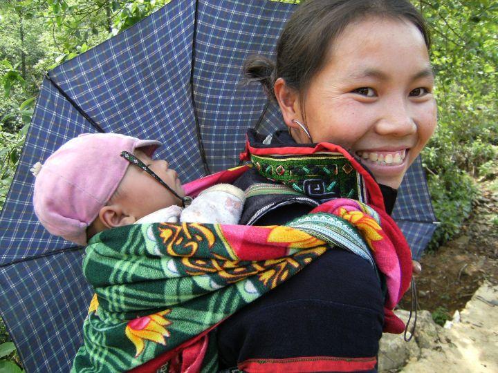 Madre e hijo vietnamitas