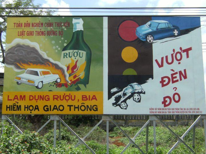 Señal de no beber conduciendo, Vietnam