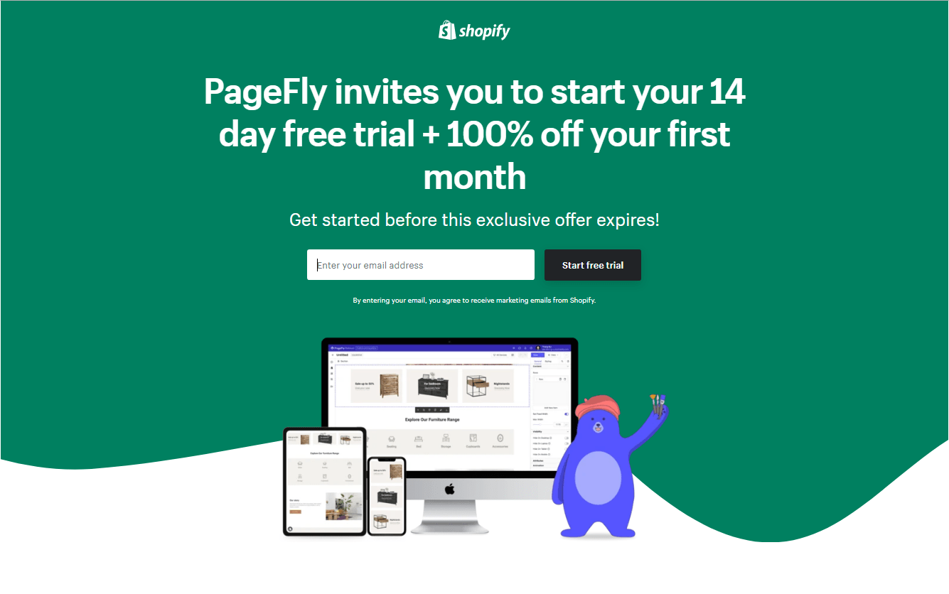 Page Fly free trial