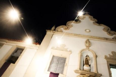 Fachada da Igreja do Carmo Menor, noite de 16 de março de 2014. São Cristóvão-SE.