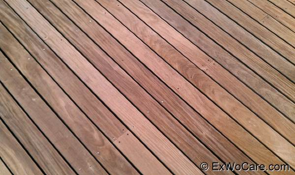 Cleaned Ipe Deck Close-up