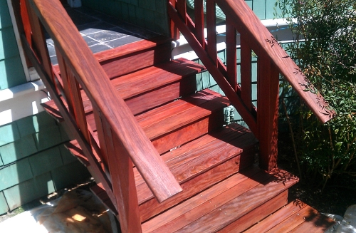Ipe Porch Restored and Sealed with Cabot's ATO Mahogany Flame
