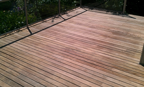 Ipe Deck Cleaned and Ready for Sealer