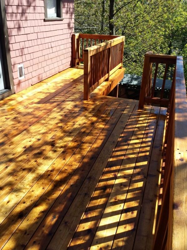 cedar deck after 3