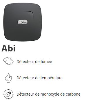 Détecteur anti incendie et monoxyde de carbone