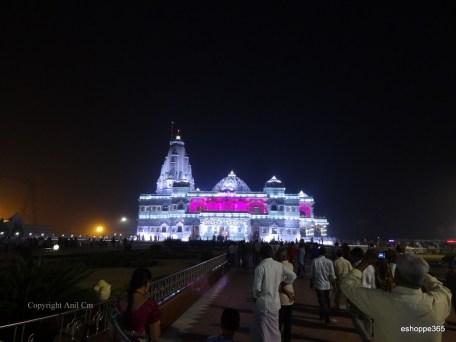 Prem Mandir from distance