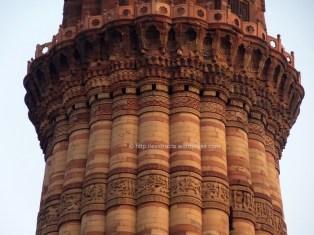 Fine works on the QUTB Minar
