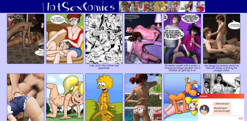 Screenshot hotsexcomics.me