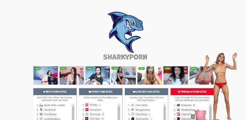 Screenshot sharkyporn.com