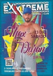 Max Duran el sábado 23 de diciembre en EXXXTREME