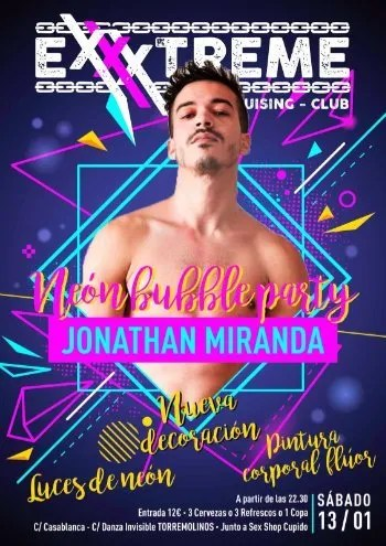 Neón Bubble Party con Jonathan Miranda En EXXXTREME CLUB