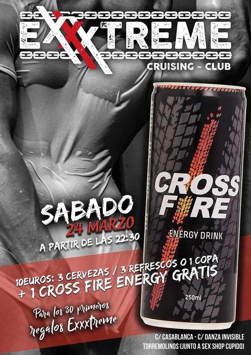 Sábado 24 de marzo un CROSS FIRE ENERGY DRINK GRATIS