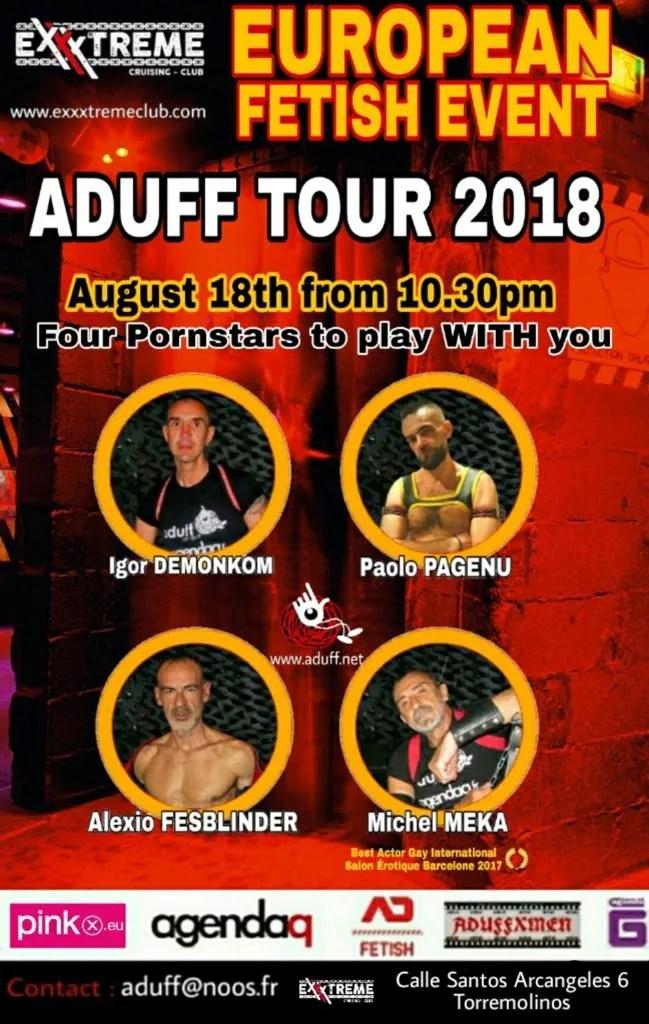 ADUFF TOUR 2018. Sábado 18 de agosto en Exxxtreme