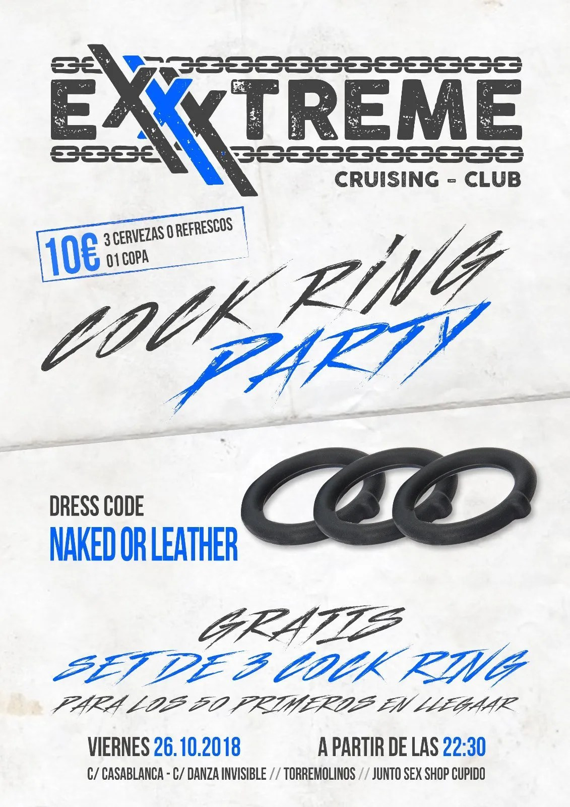 VIERNES 25 COCK RING PARTY EN EXXXTREME CLUB