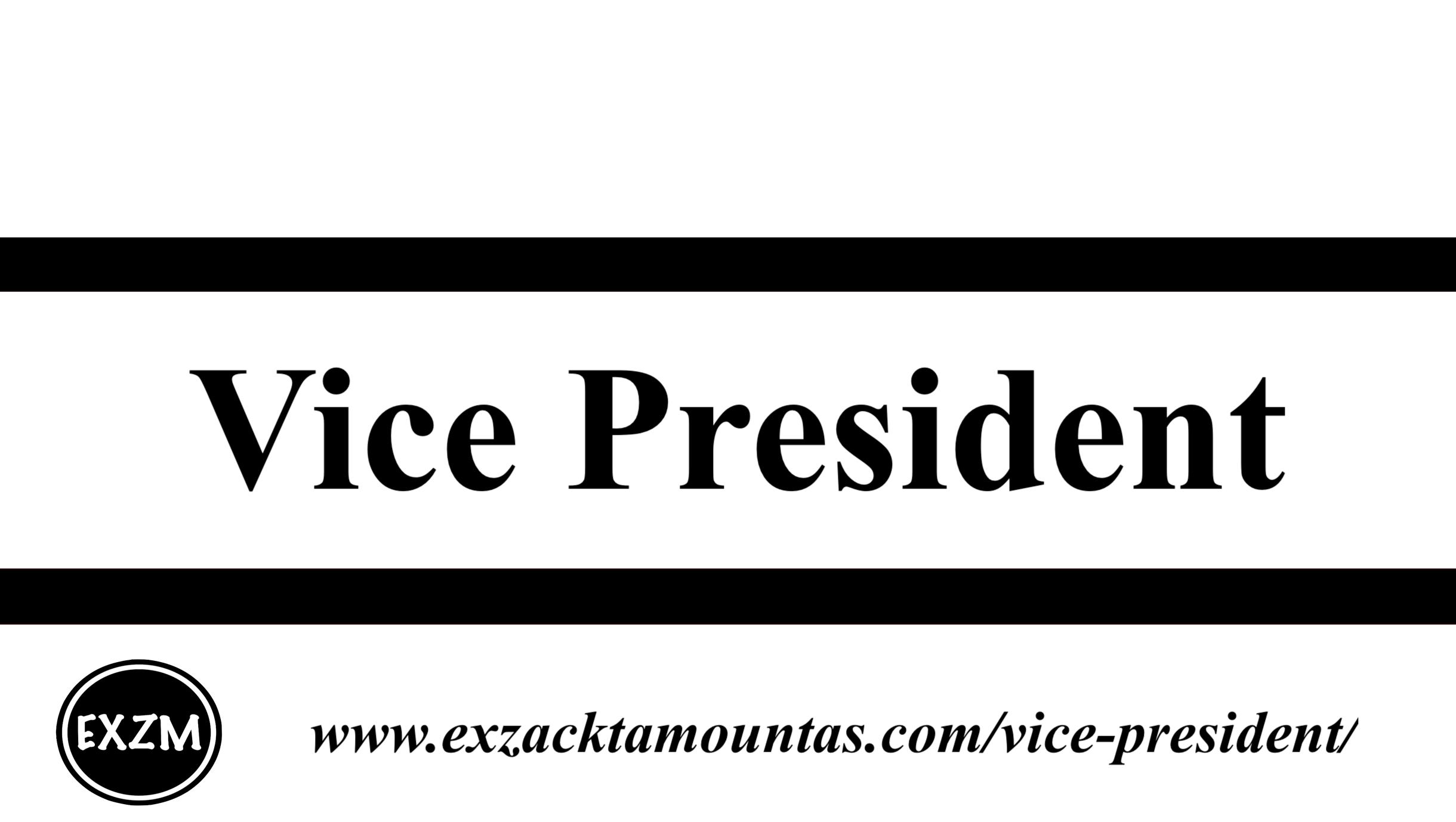 Vice President EXZM 10 1 2019