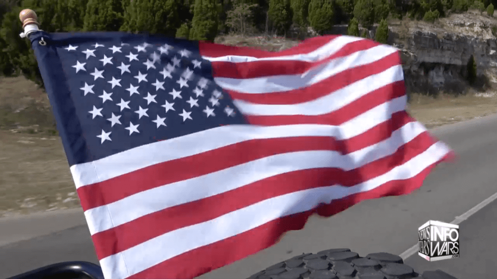 American Flag In Wind 11 4 2019