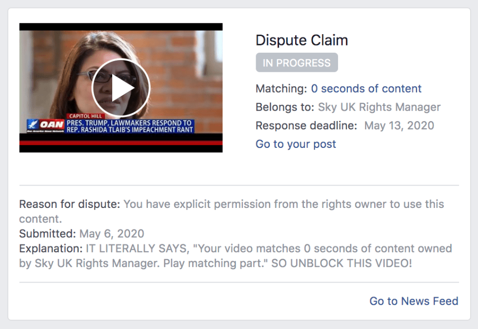 Facebook Banned Me For 3 days 5 6 2020 3