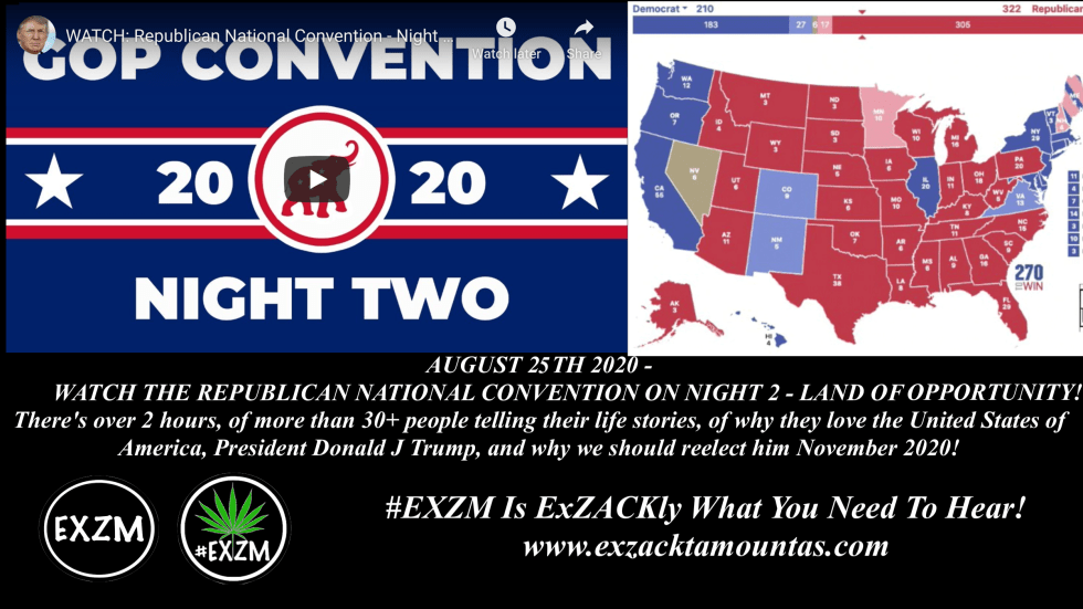 EXZM President Donald Trump RNC Republican National Convention August 25th 2020 Night 2 copy