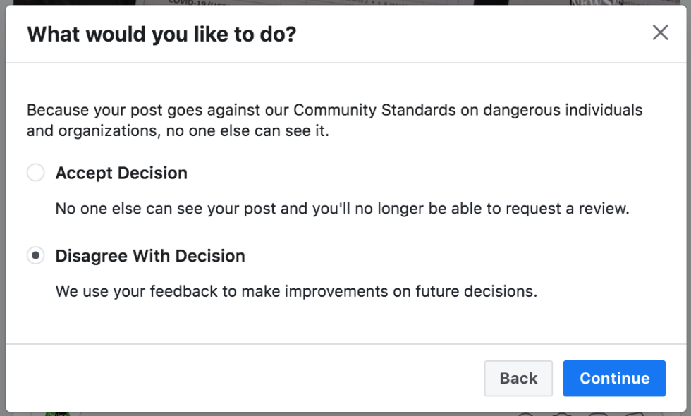 Facebook banned me for 7 days August 2nd 2020 3