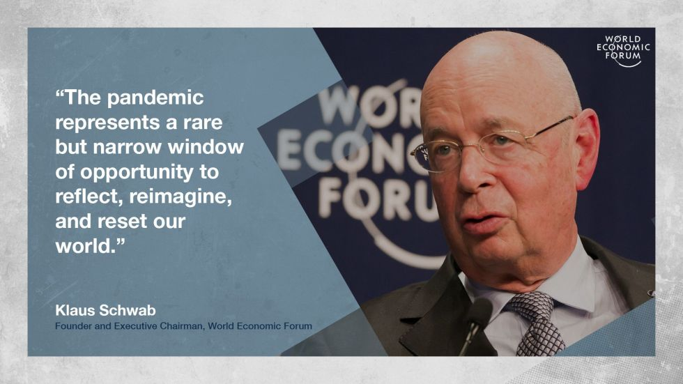 Klaus Schwab World Economic Forum Strategic Intelligence The Great Reset August 16th 2020