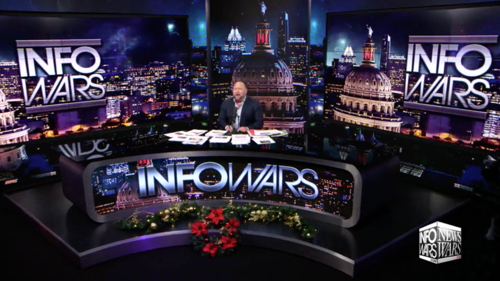 Alex Jones Infowars Studio Christmas EXZM Zack Mount December 10th 2020