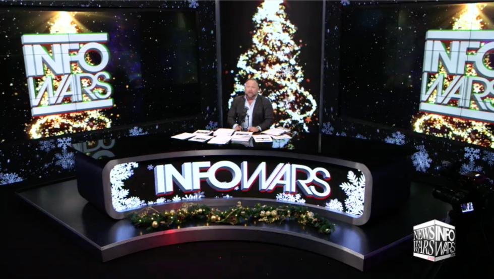 Alex Jones Infowars Studio Christmas EXZM Zack Mount December 8th 2020