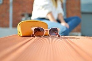 Women's Pink Round Sunglasses