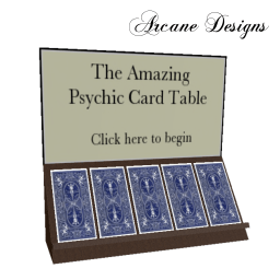 Psychic Card Table