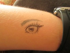 Day 360 7/6/14 Eye Tattoo with Brush Pens