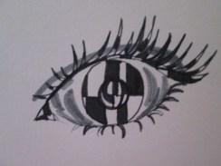 Day 361 7/7/14 Strange Eye with Negative Space