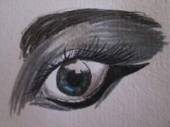 Day 365 7/11/14 Reverse Cat Eyeliner