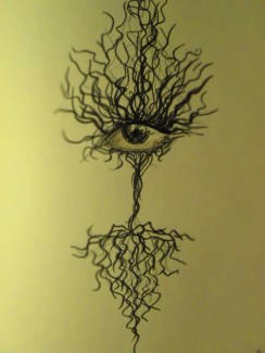 I really enjoyed doing yesterday's eye project, so I thought I'd do something with a similar theme.