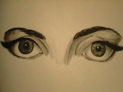 Lady Gaga's eyes!