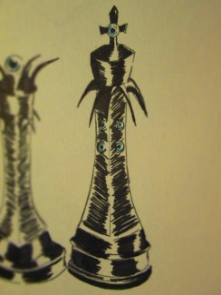 Day 343 6/19/14 Chess Piece King Eye