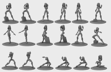 An example of toy pose exploration.