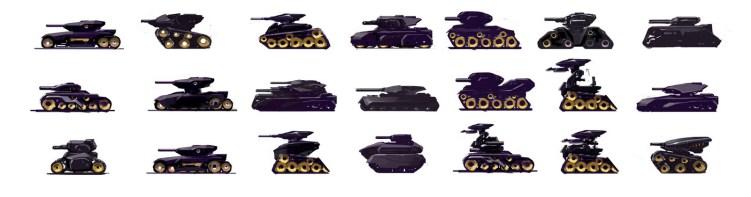 tank silhouette brainstorm