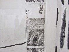 Détail de Baptiste et Garance à la campagne #1, 2009 - mine de plomb, fusain, encre de chine et acrylique sur papier - Coll. privée, France - (D) - Au Village Jérôme Zonder - Le Lieu Unique à Nantes - 11 avril 2014
