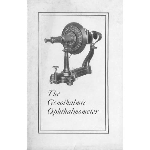 Front page of Genophthalmic Ophthalmometer Manual 1928