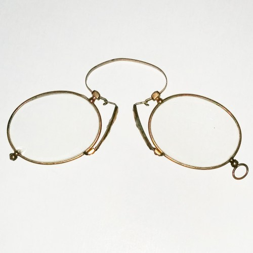 Gold Plated Pince Nez with Cork Nose Pads