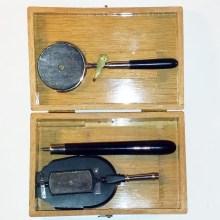 Burchardt ophthalmoscope with retiinoscope in box