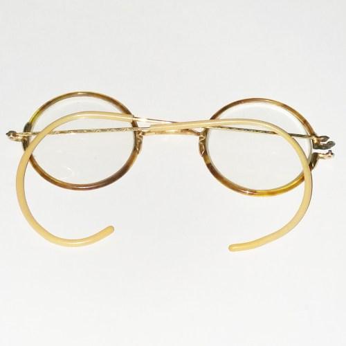 Windsor style tortoise shell gold filled Ful-Vue glasses 1928