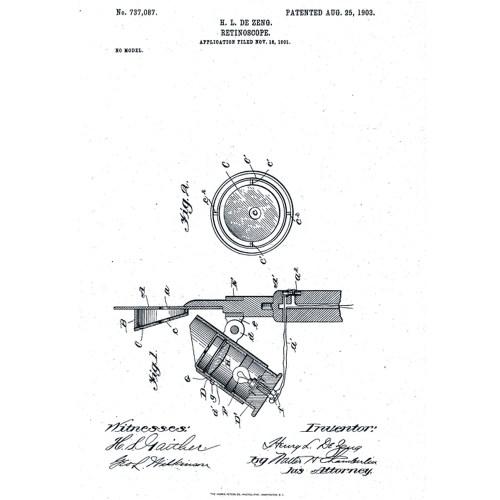 Dezeng retinoscope 1912