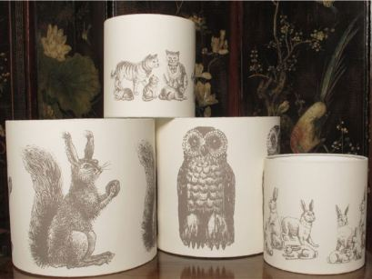 Animal lampshades from The Shady Lady