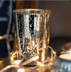 Frill edge candle holder from The White Co