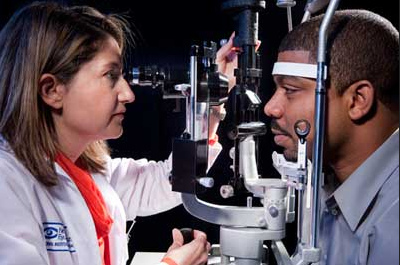 slit lamp examination for glaucoma evaluation