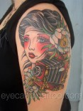 Girl Camera night blooming Cereus tattoo,new orleans tattoo, randy muller, eyecandy, icandytattoo, i candy, eye candy,